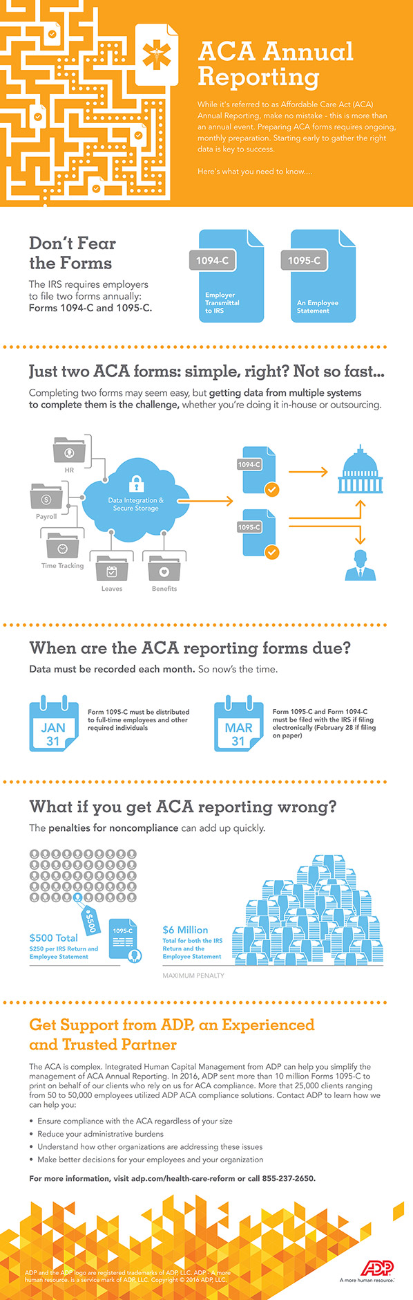 Infographic - Solving the Complexity of ACA Annual Reporting