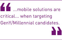 mobile solutions are critical... when targeting GenY/Millennial candidates.