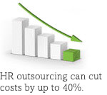 HR outsourcing can cut costs by up to 40pc