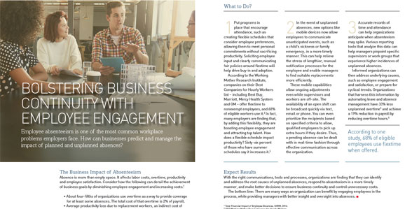 Bolstering Business Continuity With Employee Engagement