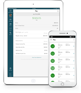 Track And Print Your Pay Statements And W2s Right From Your Phone Or Tablet.