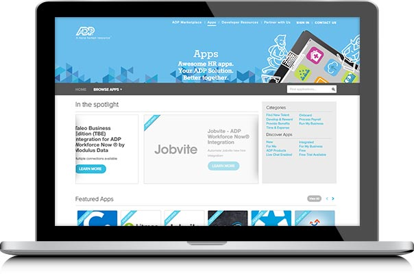 Browse ADP Marketplace Apps