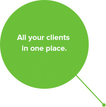All your clients in one place.
