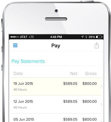 Mobile Pay Statement Screenshot
