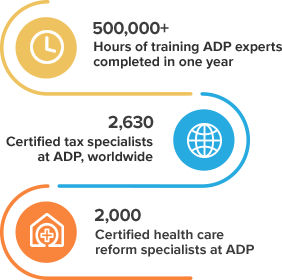 Stay compliant in payroll and HR legislation with ADP