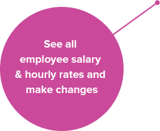 See all employee salary and hourly rates and make changes