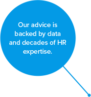 Our advice is backed by data and decades of HR expertise.