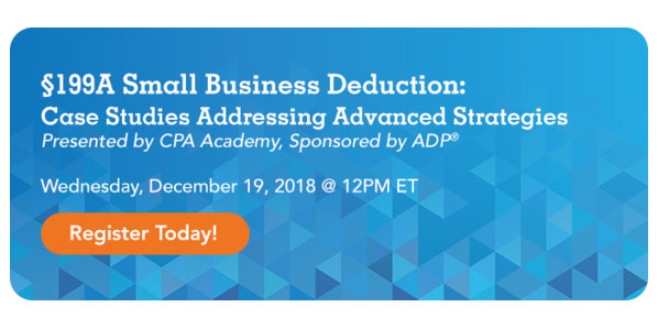 Small Business Deduction Webcast