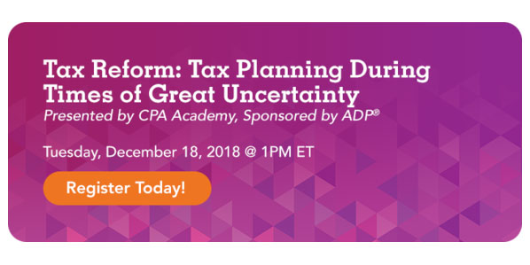 Tax Reform Webcast