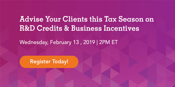 Tax Season Business Incentives Webinar