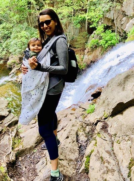 Tashina Charagi ADP with daugther hiking