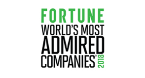 Fortune's World's Most Admired Companies award for 12 consecutive years