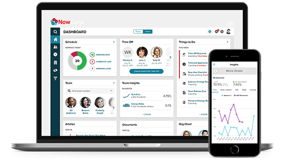 ADP Vantage HCM dashboard and mobile app