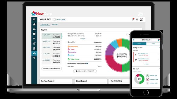 ADP Enterprise HR easy-to-use desktop dashboard and mobile app