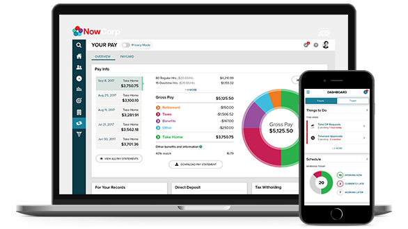 ADP Enterprise HR easy-to-use desktop dashboard and mobile app