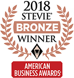 2018 American Business Awards Bronze Stevie Winner