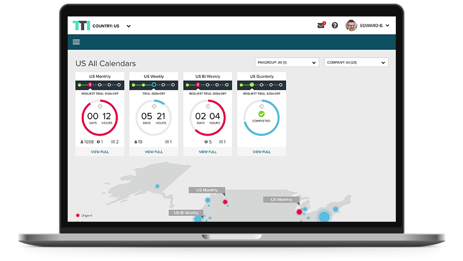 ADP Streamline desktop dashboard