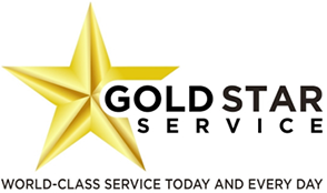 Gold Star Service logo.