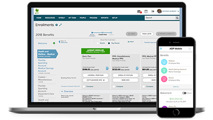 ADP TotalSource® platform and mobile app
