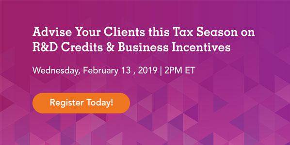 Tax Season Business Incentives Webinar
