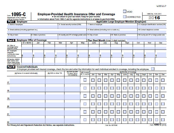 Form 1095-C Guide for Employees | Contact Us