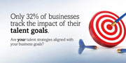 Only 32% of businesses track the impact of their talent goals. Are your talent strategies aligned with your business goals?
